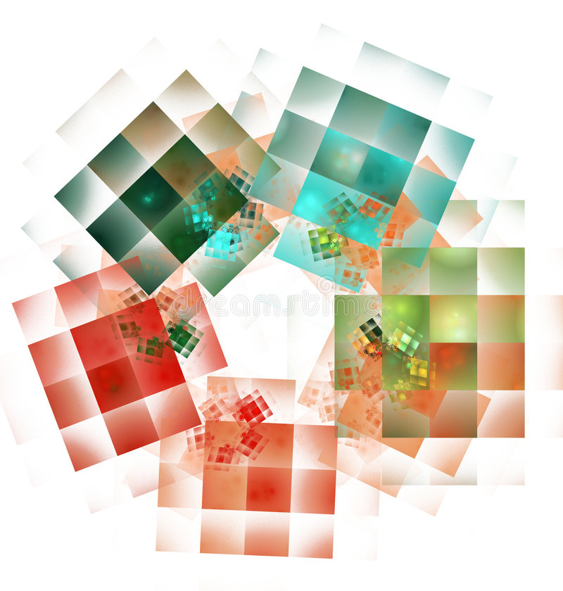 Fractal. Chess in forth dimension stock illustration