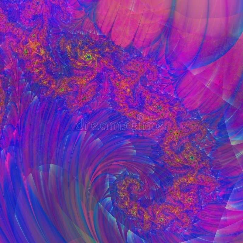 fractal abstract, bloemenviooltje als achtergrond stock illustratie