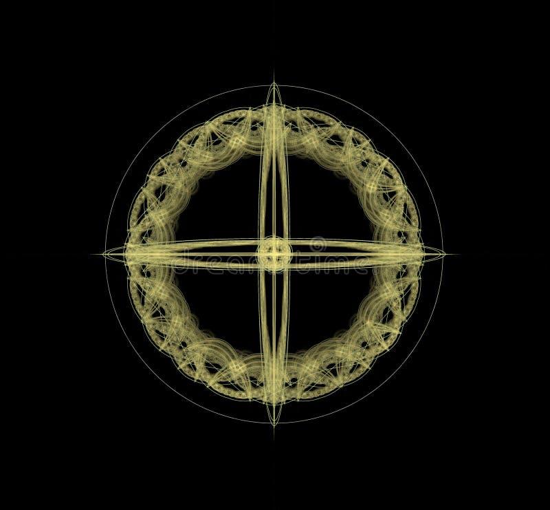 Fractal abstract pictogram van een fantastische organisatie royalty-vrije illustratie