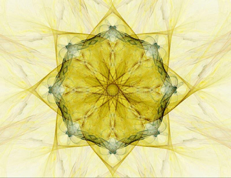 Fractal abstract - star (background) vector illustration