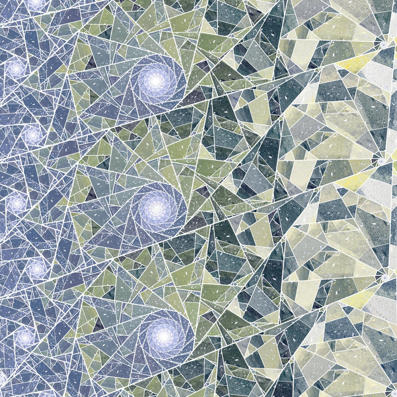 Fractal abstractie van de winter stock illustratie