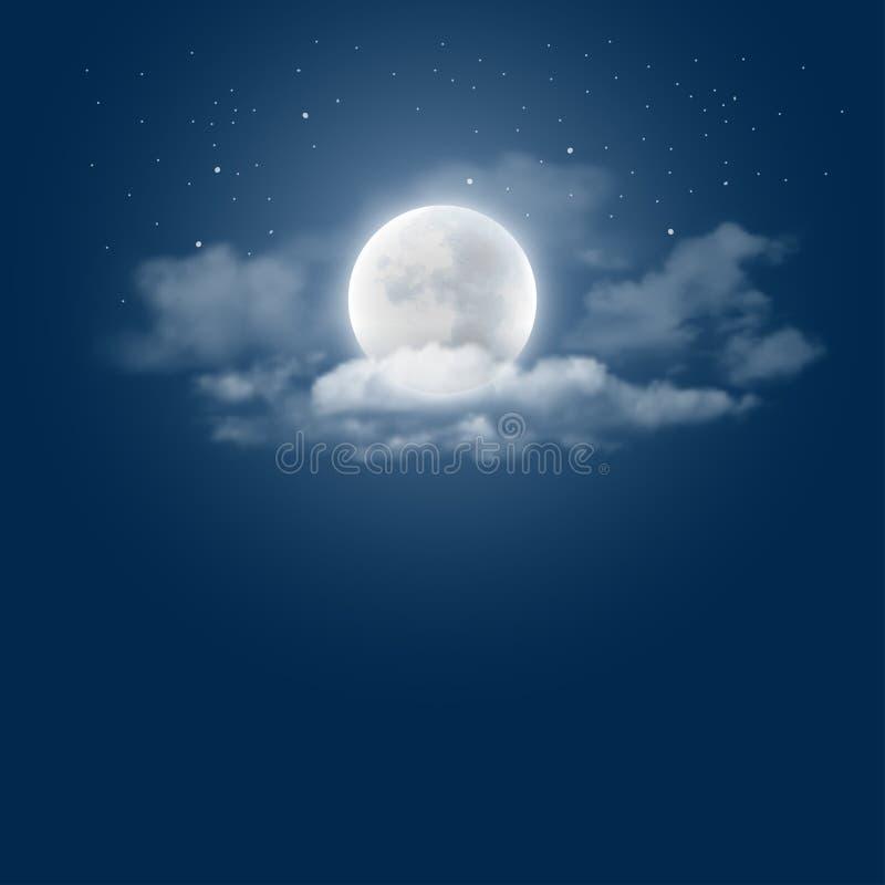 fractal abstrakcyjna podobieństwo blasku księżyca tej nocy royalty ilustracja