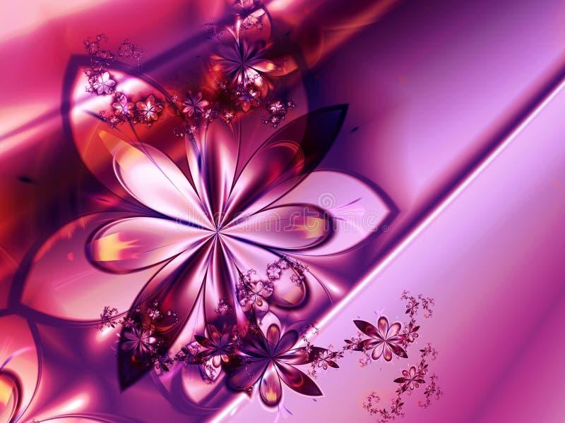 fractal abstrakcyjnych tła różowy kwiat ilustracja wektor