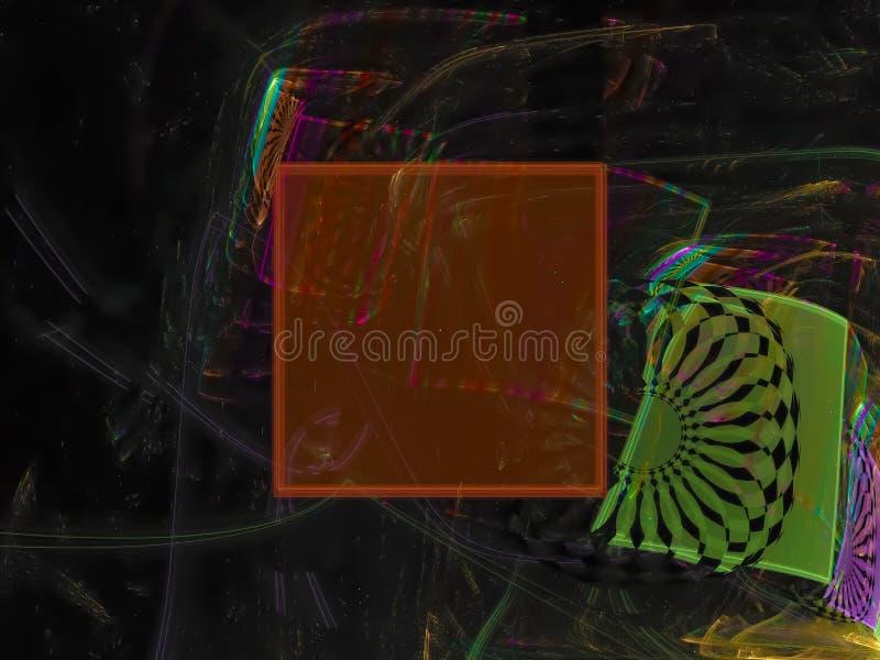 Fractal abstrakt, cyfrowa dyskoteka nowożytna, koszowego szablonu projekta magii modna deseniowa fantazja zdjęcia royalty free