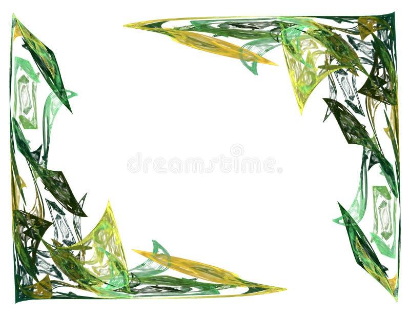 Fractal-abstrakte Ecken stockfoto