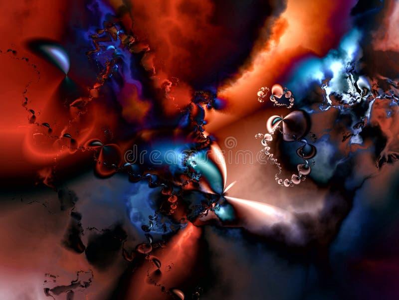 Download Fractal-Abstraktion II stock abbildung. Illustration von leuchtend - 96930576