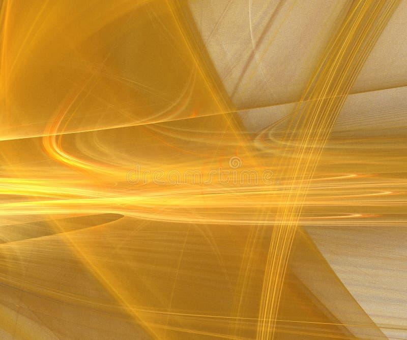 Fractal abstrato do ouro ilustração do vetor
