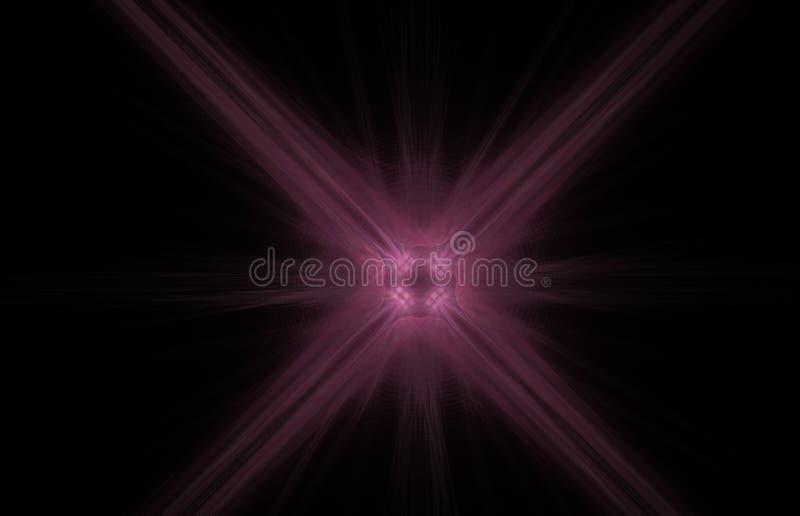 Fractal abstrato transversal do rosa no fundo preto Textura do fractal da fantasia Twirl vermelho de Digitas art rendição 3d Imag ilustração royalty free