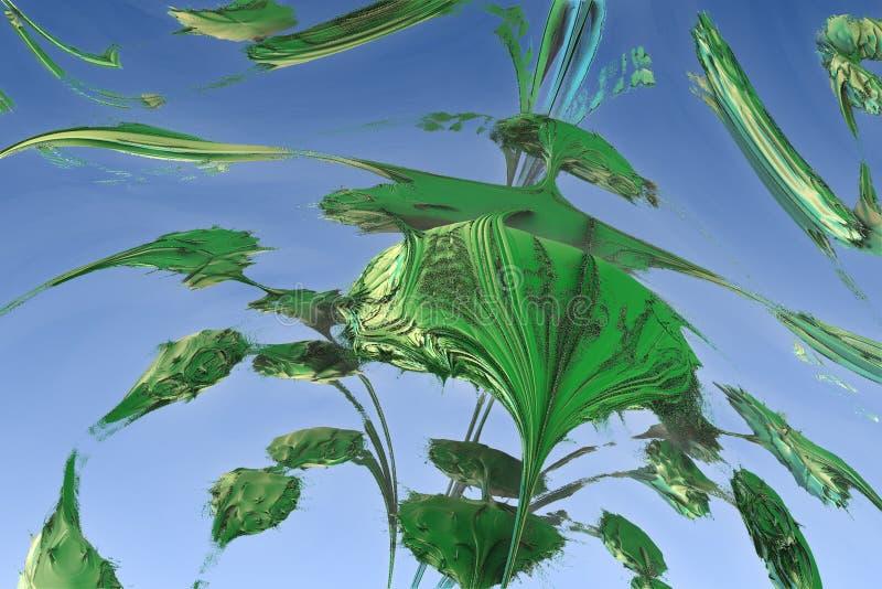 Fractal abstrato verde ilustração royalty free