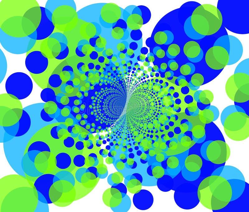 Fractal achtergrond - ronde kleurrijke vormen 2 stock illustratie