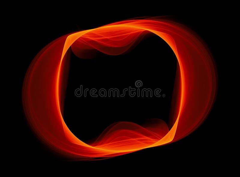 Fractal ardiente con un agujero libre illustration