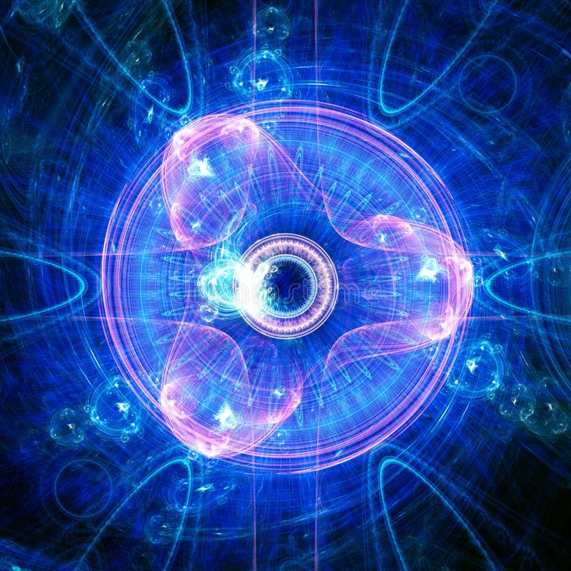 Blue Spiral Tri Eye in the Sky   Fractal Art Background Wallpaper. Fractal art is beautiful to humans because we are fractal beings with fractal brains living on stock illustration