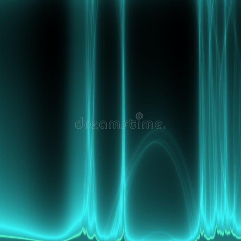 Fractal azul stock de ilustración
