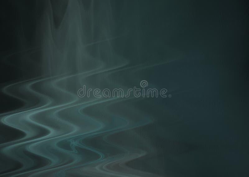 Fractal azul de la onda stock de ilustración