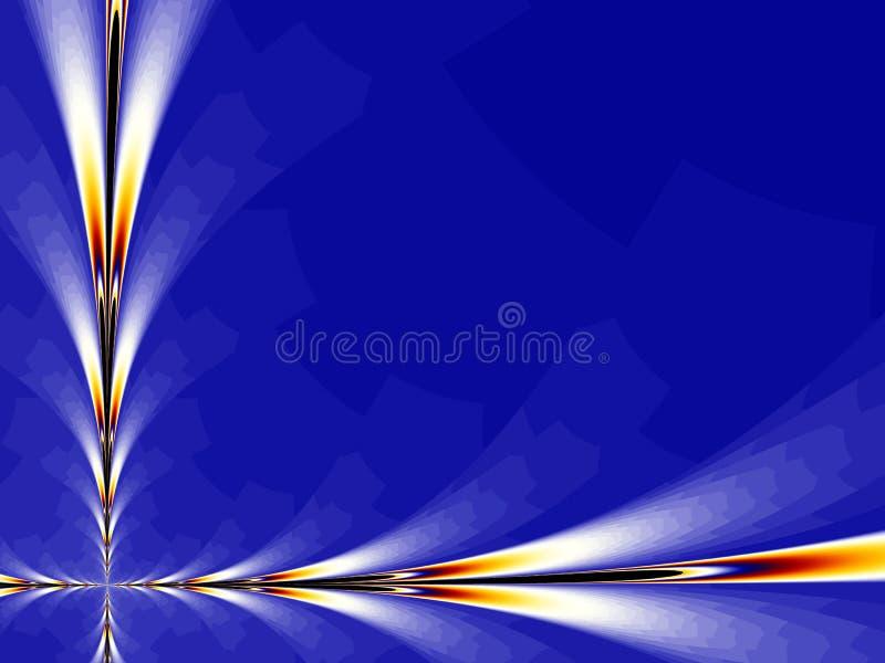 Fractal azul do fundo ilustração do vetor