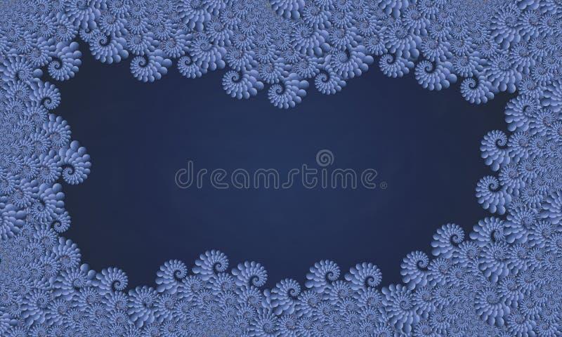 fractal błękitny rama obraz royalty free