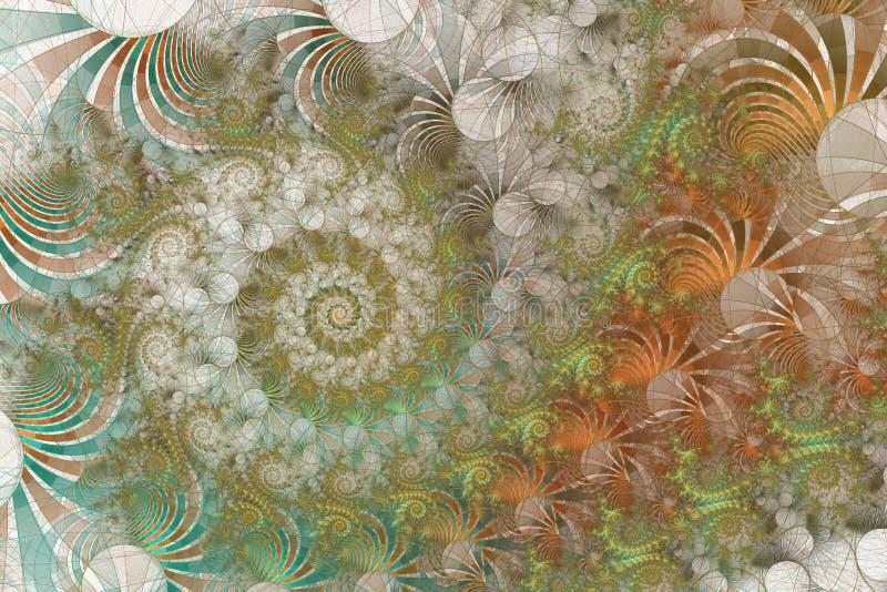 Fractal background forming spiral patterns on background royalty free illustration