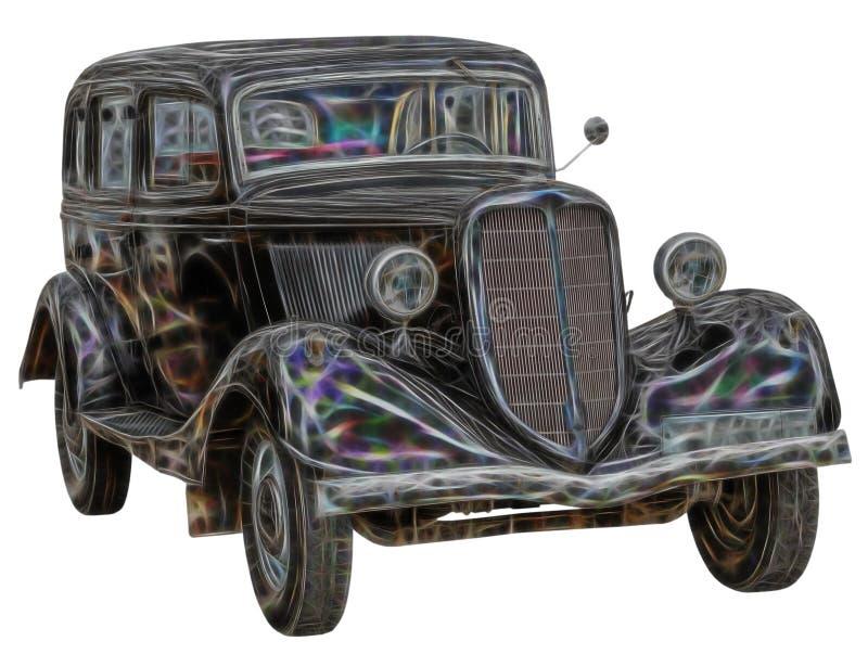Fractal beeld van Retro auto vector illustratie