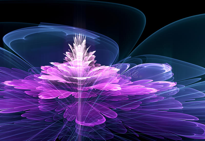 Fractal bloem stock illustratie