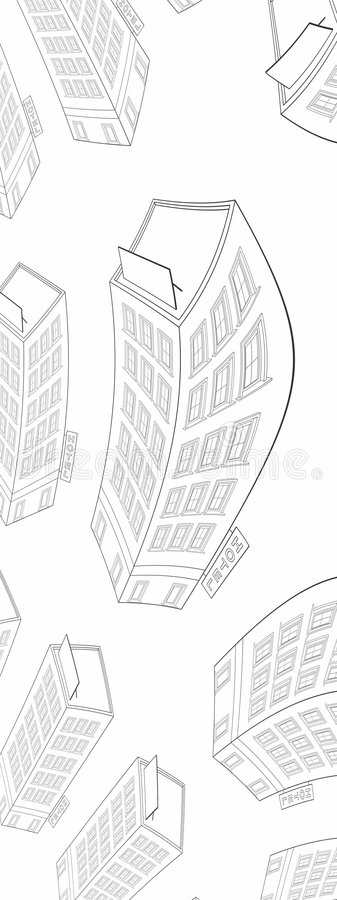 Fractal building stock illustration