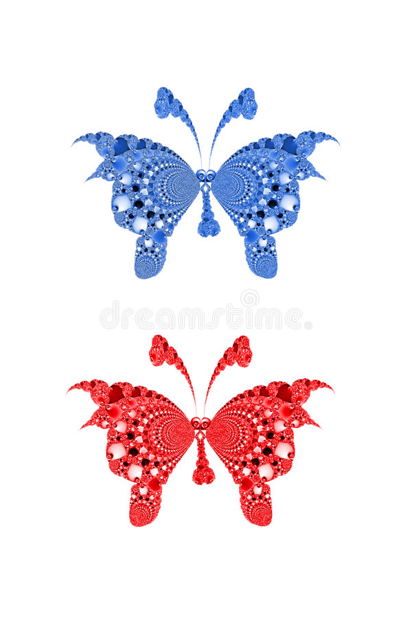 Download Fractal butterflies stock illustration. Image of color - 4059322