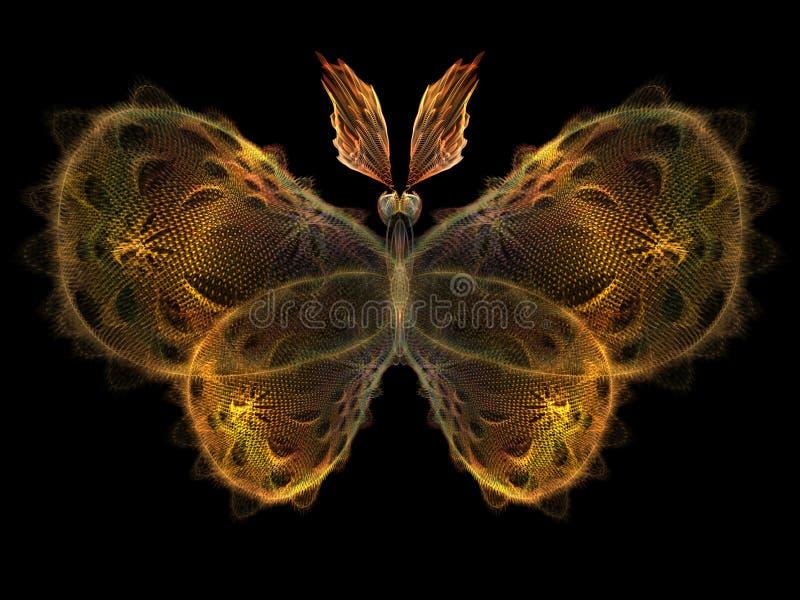 Fractal Butterfly stock illustration