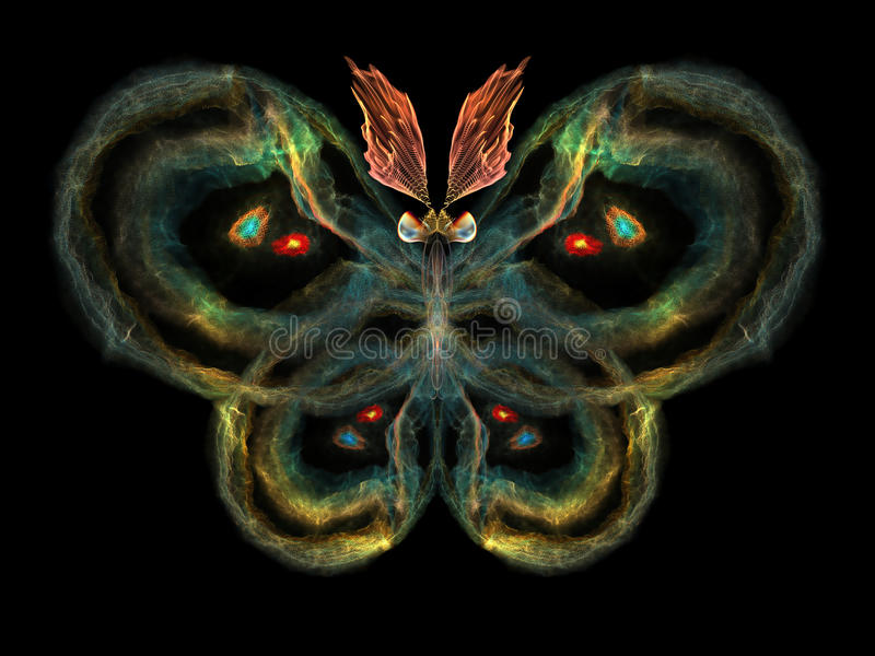 Fractal Butterfly royalty free illustration