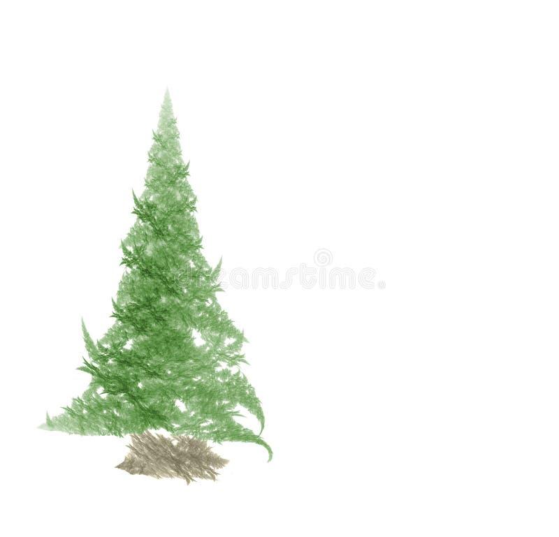 Fractal christmas tree. On white background royalty free illustration