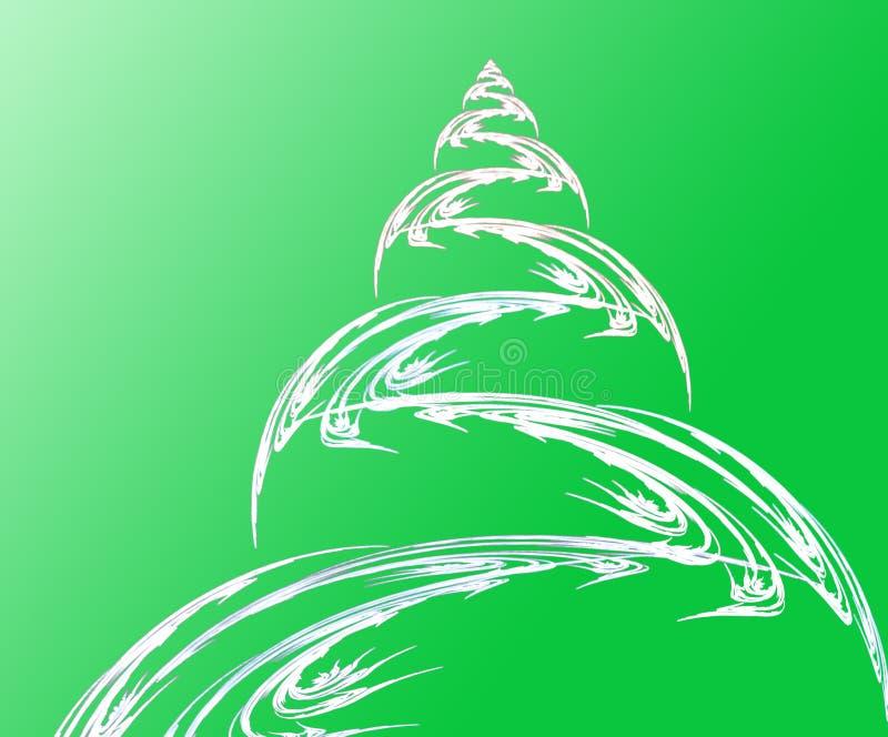 Fractal Christmas tree and ball royalty free stock image