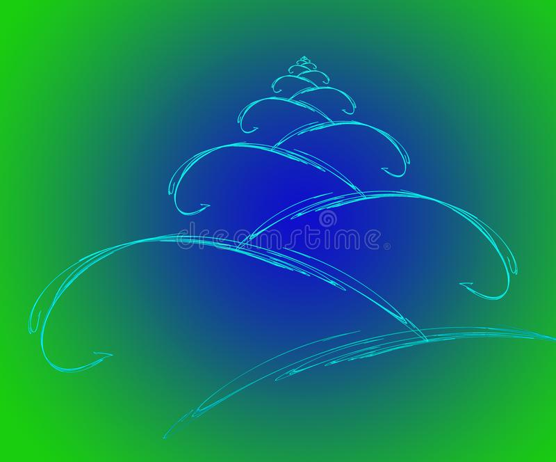 Fractal Christmas tree and ball royalty free stock images