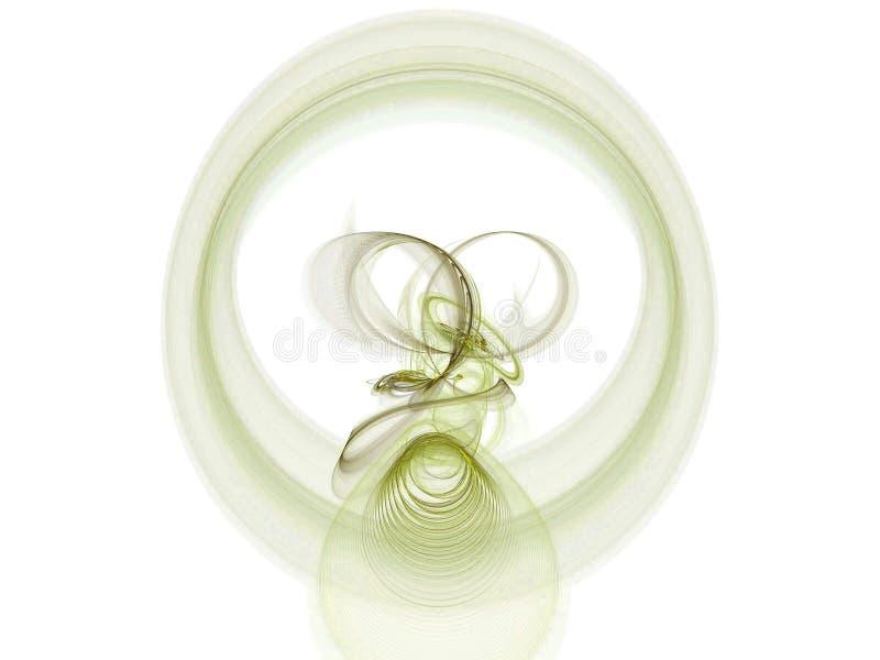 Fractal circular ilustração royalty free