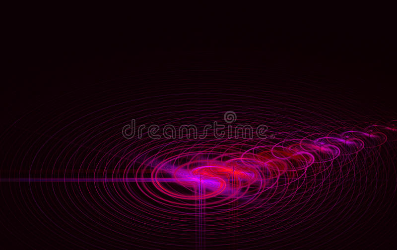 Fractal colorful and circles reflection royalty free stock images
