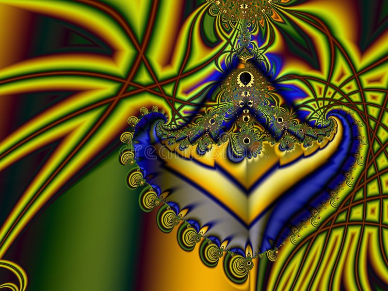 Fractal colorido stock de ilustración
