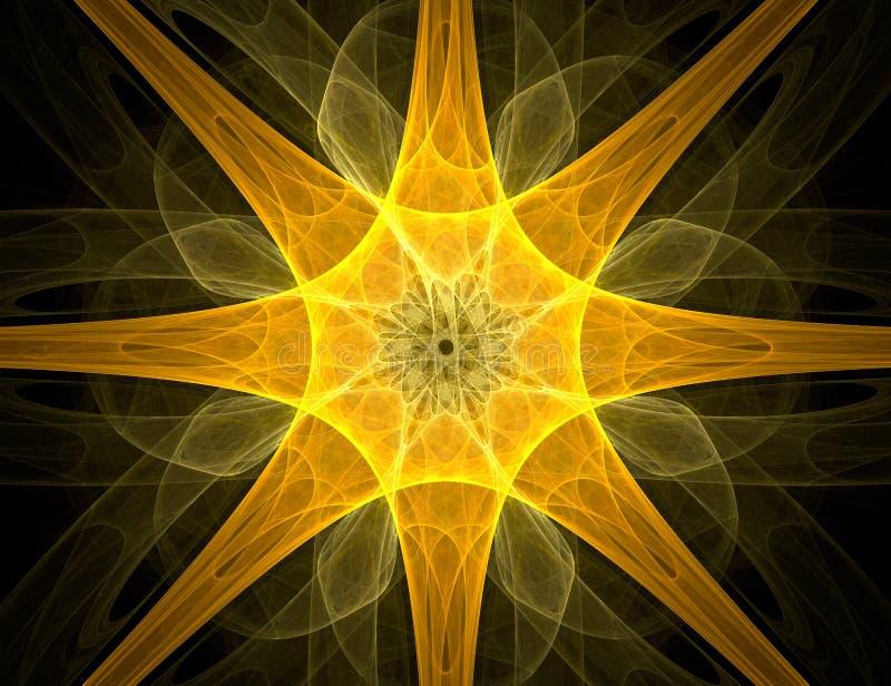 Fractal com estrela; projeto abstrato, fundo ilustração do vetor