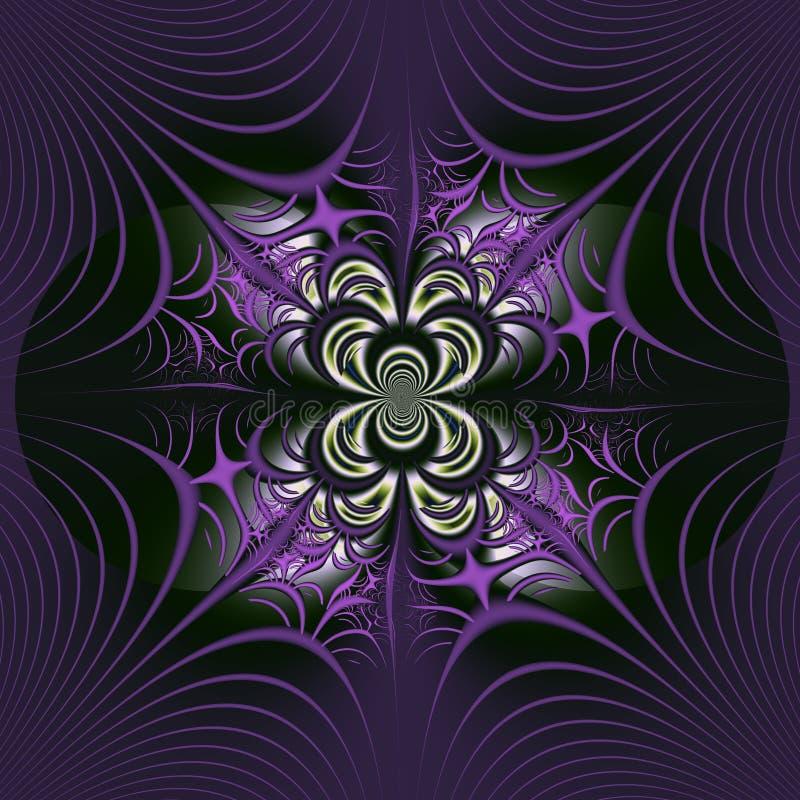 Fractal con un web del ` s de la araña libre illustration