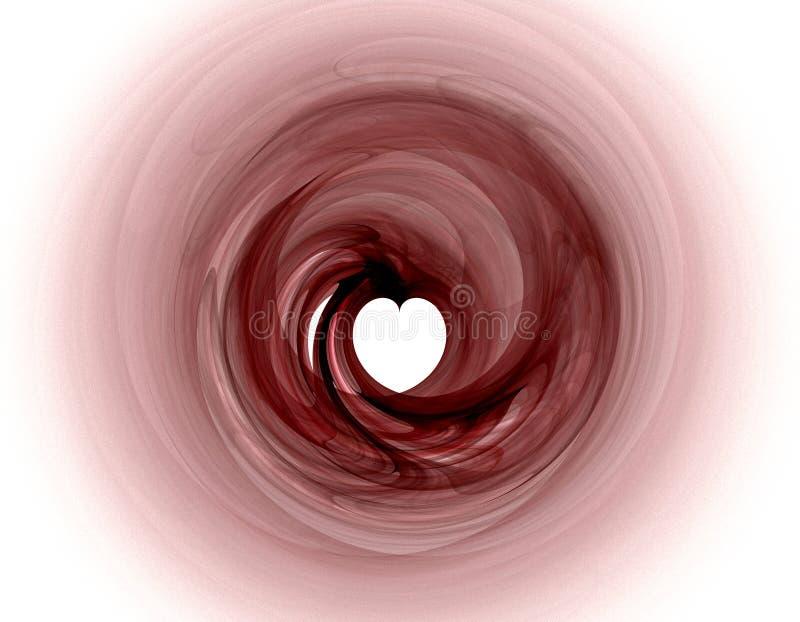 Fractal cor-de-rosa com coração ilustração royalty free