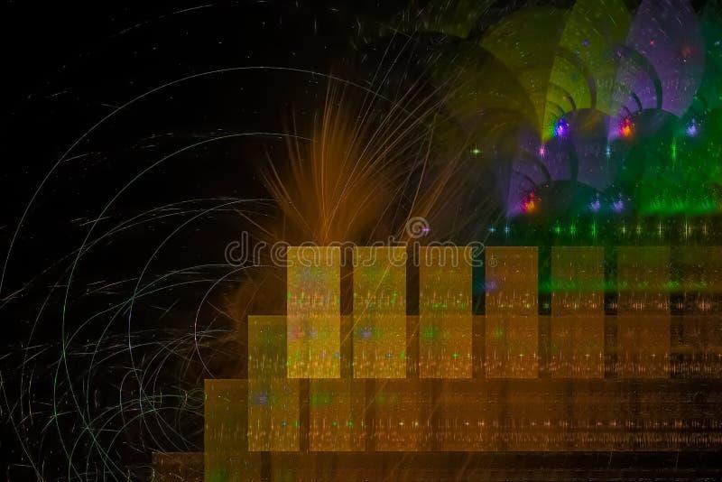 Fractal creativo del contexto del poder de onda del brillo del efecto moderno creativo dinámico del extracto creativo ilustración del vector