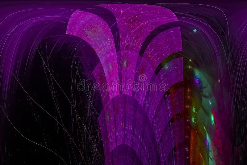 Fractal creativo del contexto del poder de onda del brillo del efecto moderno futurista creativo dinámico del extracto creativo ilustración del vector