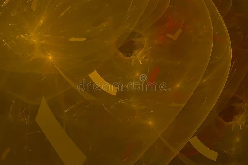Fractal creativo ligero futurista gráfico del contexto del poder de onda del brillo del extracto creativo ilustración del vector