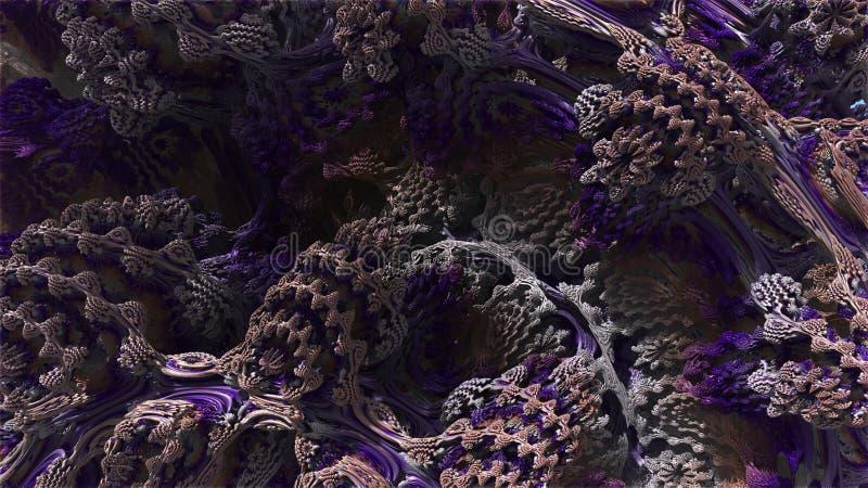 Fractal 3d Abstrakt dator frambragd Fractaldesign vektor illustrationer