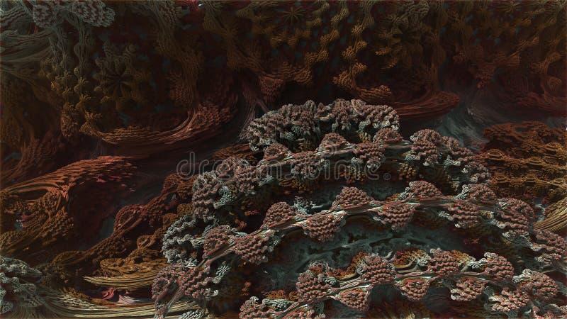 Fractal 3d Abstrakt dator frambragd Fractaldesign royaltyfri illustrationer