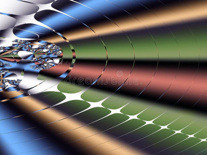 Fractal: De caos a la orden ilustración del vector