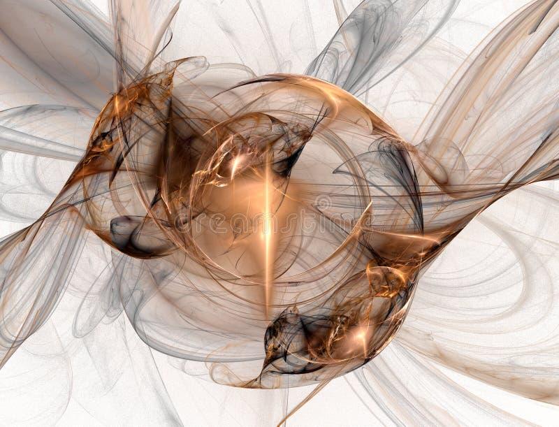 Fractal de cobre foto de stock