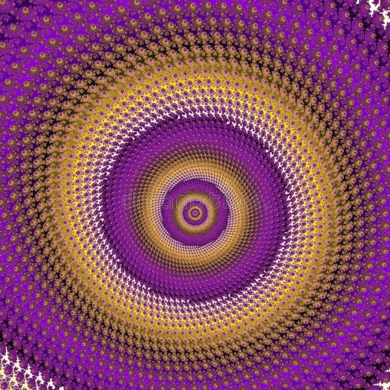 Fractal de gele violette spiraal van grafieklilas stock illustratie