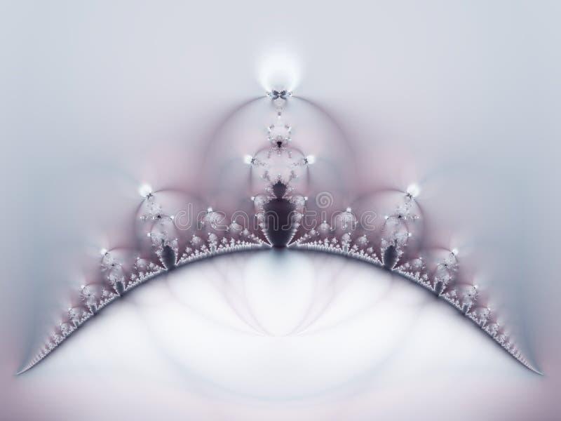 Fractal de la corona en la púrpura blanca imagen de archivo