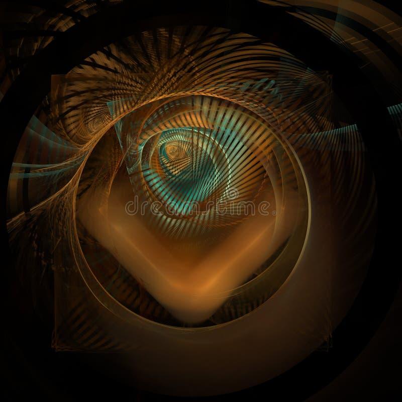 Fractal de la escalera del paraíso ilustración del vector