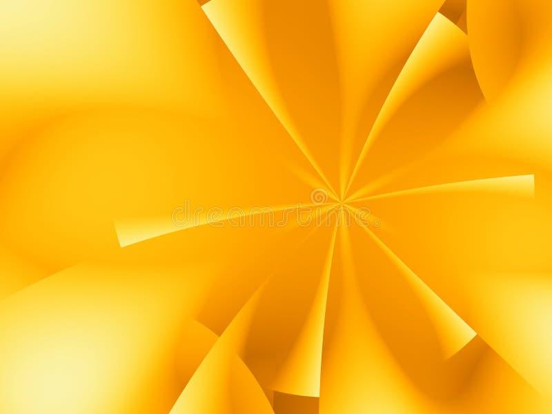 Fractal de la estrella del oro foto de archivo