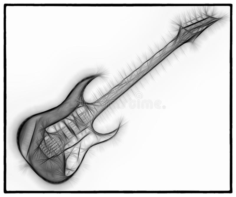 Fractal 15 de la guitarra libre illustration