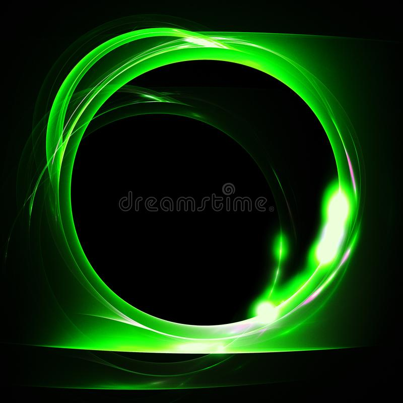 Fractal de la luz verde con el agujero redondo libre illustration