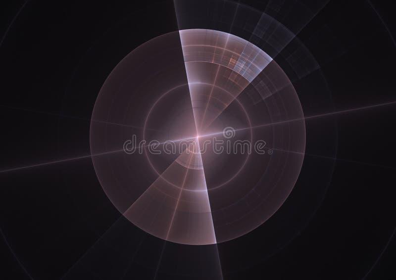 Fractal de la pantalla del sonar ilustración del vector